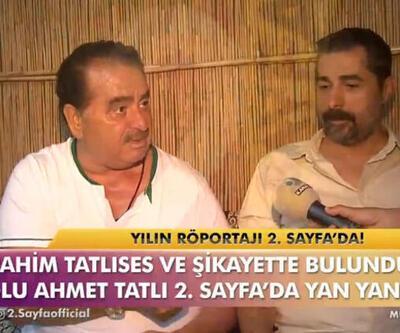 İbrahim Tatlıses ve oğlu Ahmet Tatlı, '2.Sayfa'da barıştı!