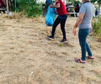Gercüş'te doğaseverler çöp topladı
