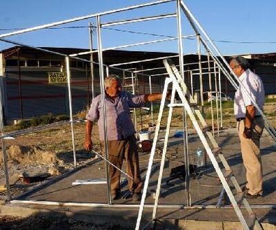 Sarıgöllü çiftçiler için örnek sebze kurutma serası kuruluyor