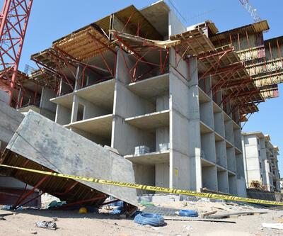 Son dakika... Elazığ'da, inşaat iskelesi çöktü: 5 işçi yaralı