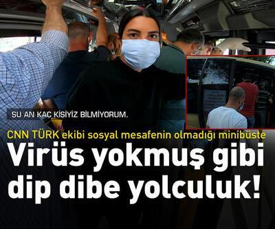 CNN TÜRK ekibi dip dibe yolculuk yapılan o minibüste! | Video