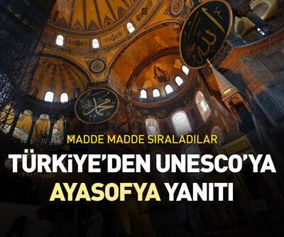 Türkiye'den UNESCO'ya 'Ayasofya' yanıtı