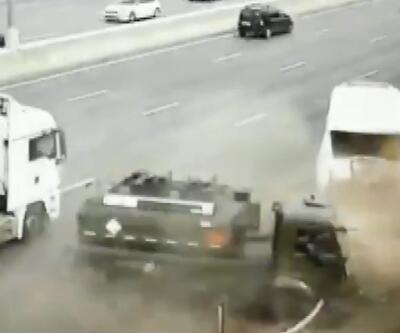 Otoyolda feci kaza: Ortalık savaş alanına döndü