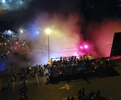 Başakşehir'de şampiyonun maçı dev ekranda izlendi