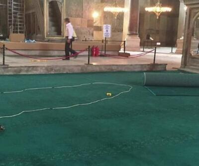 Ayasofya Camii'nin halıları hazır   Video