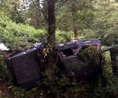 Trabzon'da otomobil uçuruma yuvarlandı; 1 ölü, 5 yaralı