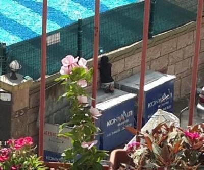 Son dakika... Çöp konteyneri üzerinden havuzdaki yaşıtlarını izleyen kağıt toplayıcı çocuğa sürpriz