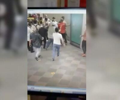 Kadın makiniste saldırdılar   Video