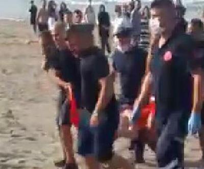 Serinlemek için denize giren genç, boğulma tehlikesi geçirdi