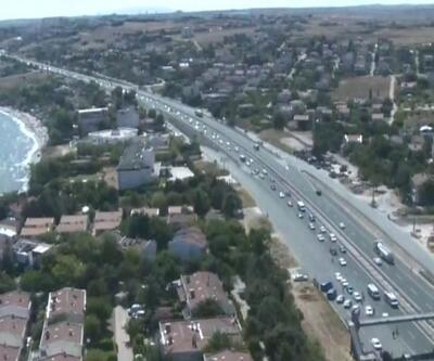 Son Dakika: Bayram trafiği havadan denetlendi | Video