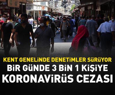 Gaziantep'te bir günde 3 bin 1 kişiye Kovid-19 cezası