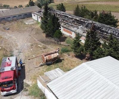 Kullanılmayan çiftlikte yangın çıktı