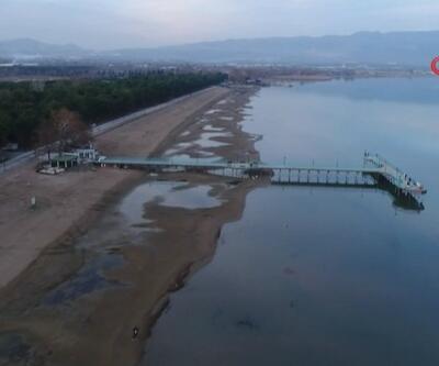 Marmara'nın en büyük gölünde korkutan görüntü | Video