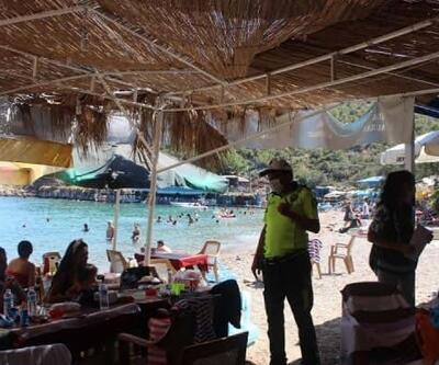 Bozyazı'da tatilcilere de maske uyarısı yapıldı