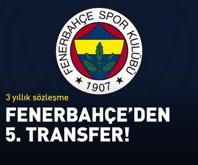 Fenerbahçe'den 5. transfer!
