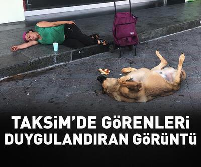 Taksim'de hem yürek burkan hem duygulandıran görüntü
