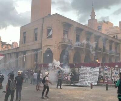 Beyrut'ta olaylar sürüyor. Hükümetin istifasından sonra eylemciler sokakta   Video