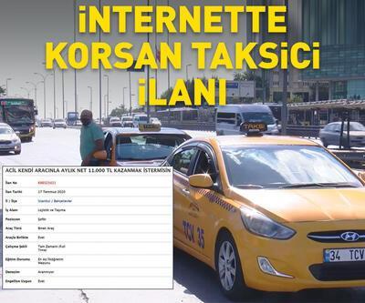İnternette ilan vererek korsan taksicilik yapıyorlar