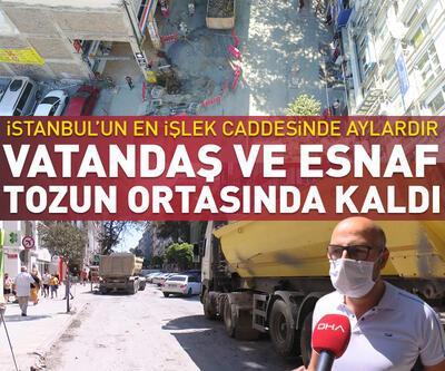 Bakırköy'de bitmeyen alt yapı çalışması esnafı bezdirdi