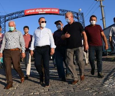 AK Partili Turan, Lapseki'de sanayi esnafıyla bir araya geldi