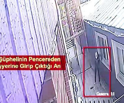 Son dakika... İş yerlerine pencereden girerken görüntülenen şüpheli yakalandı