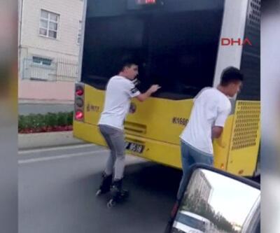 Gençleri uyarayım derken onlara çarpıyordu | Video