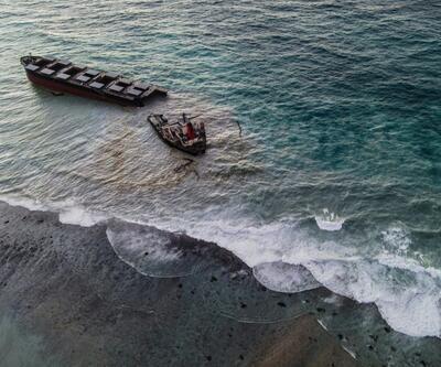 Mauritius'ta çevre felaketi büyüdü: Karaya oturan tanker ikiye bölündü
