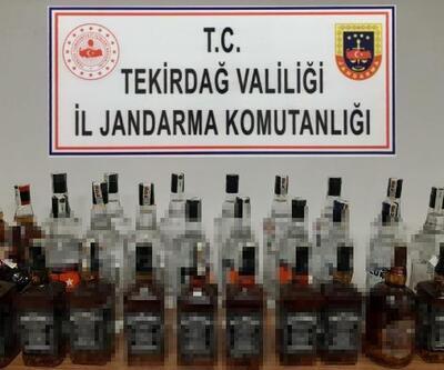 Tekirdağ'da Jandarma'dan 'kaçak içki' operasyonu