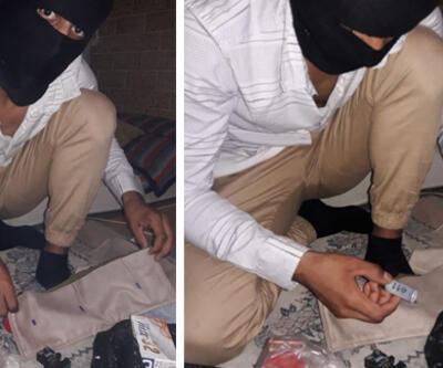 Son dakika... DEAŞ şüphelisinin bomba hazırlarken çekildiği iddia edilen fotoğrafları ele geçirildi