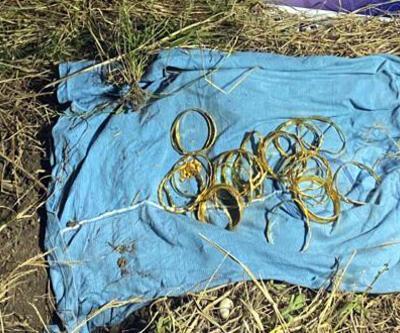 Kuyumcuyu soygununda çalınan altınlar, bahçede gömülü bulundu
