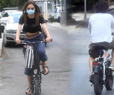 Alina Boz ve  Mithat Can Özer bisiklet sürdü