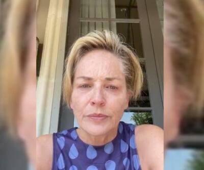 Sharon Stone'dan salgın paylaşımı. Gözyaşlarını tutamadı | Video