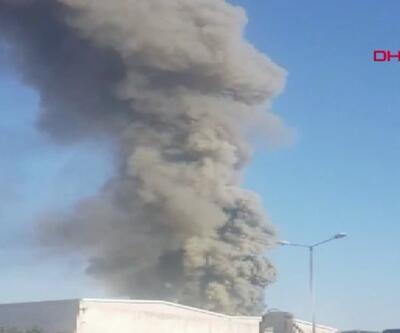 Son dakika... Antalya'da fabrika yangını söndürüldü | Video