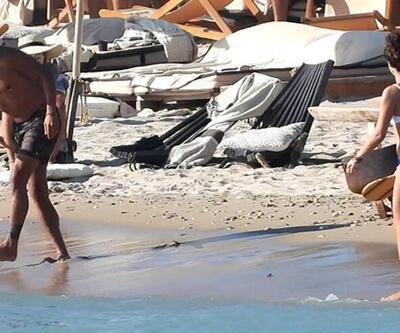 Özge Özpirinçci ile Burak Yamantürk'ün plaj tenisi