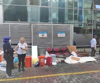 Son dakika... Gaziosmanpaşa'da hastane tavanı çöktü: 3 yaralı | Video