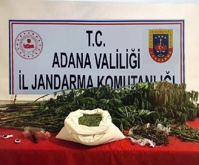 Adana'da bir evde 8 kilo esrar ele geçirildi