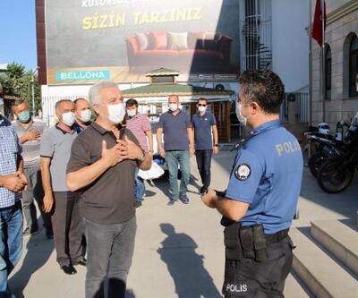 Taşıyıcı esnafından polise destek ziyareti