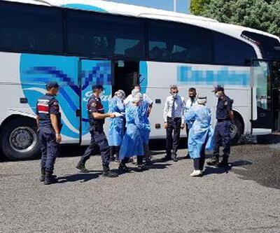 Koronavirüslü kişi yolcu otobüsünde yakalandı
