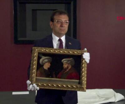 Fatih tablosu İBB binasına getirildi. 6 Ekim'den itibaren sergilenmeye başlanacak | Video
