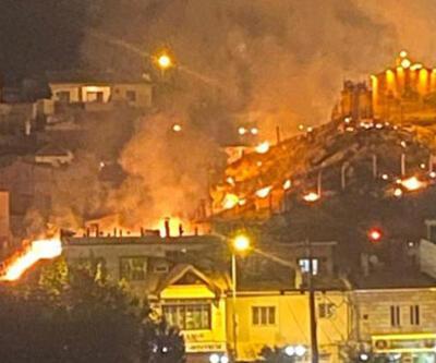 Havai fişek gösterisi yangına neden oldu