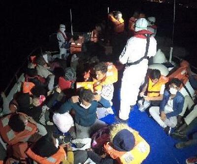İzmir'de 40 kaçak göçmen kurtarıldı