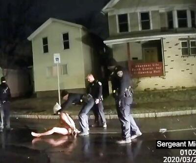 ABD'de infial yaratan görüntüler ortaya çıktı: Polis poşetle boğdu