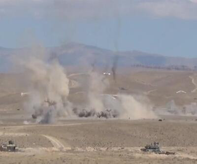 Ortak tatbikat savaş sahnelerini aratmadı!  | Video