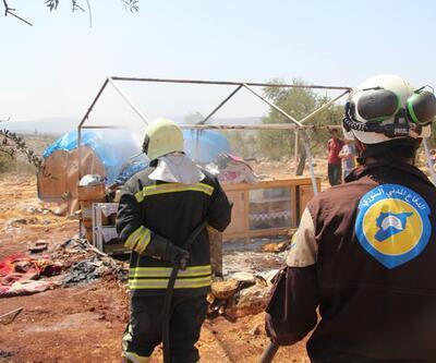 İdlib'teki çadır yangınında 4 çocuk yaşamını yitirdi, anne yaralandı