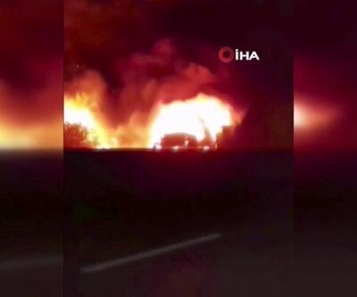 Otomobil yangını ormana sıçradı, 5 hektar alan zarar gördü | Video