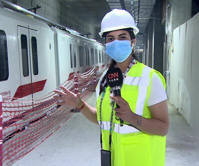 CNN TÜRK Gayrettepe - İst. Havalimanı metrosundaki son durumu görüntüledi | Video