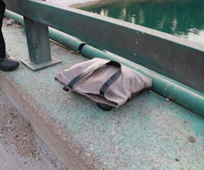 Çantadan şüphelenip göle baktı! Korkunç gerçek ortaya çıktı