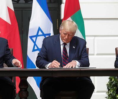 Son dakika haberi... Filistin'i yok sayan anlaşma! Beyaz Saray'da imzalar atıldı | Video