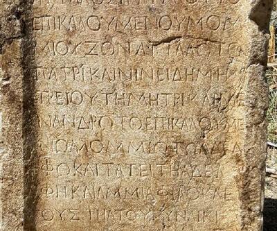Son dakika.. Isparta'da 1800 yıllık kitabe ele geçirildi
