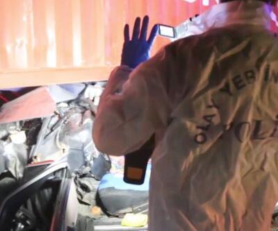 TIR'ın altına giren otomobilde 1 kişi öldü | Video